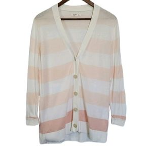 Old Navy Pink Ombre Striped Button Up Card…